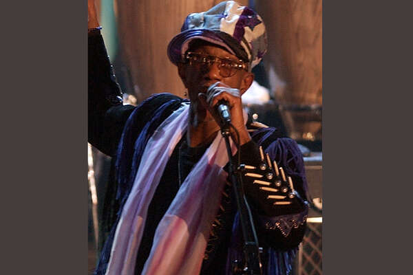 FILE - In this March 18, 2002, file photo, Bernie Worrell speaks at the Rock and Roll Hall of Fame in New York. An all-star benefit is planned for funk pioneer Worrell on Monday, April 4, 2016, in New York to raise money for his cancer treatment. The keyboardist for George Clinton's Parliament-Funkadelic was diagnosed with Stage Four lung cancer. (AP Photo/Kathy Willens, File) ORG XMIT: NYET100