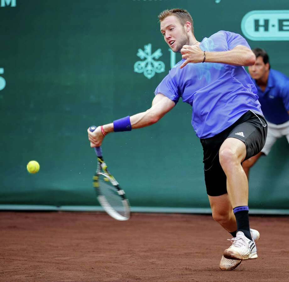 Jack Sock showed he's comfortable on the clay at River Oaks Country Club in 2015. Photo: Craig Hartley, Freelance / Copyright: Craig H. Hartley