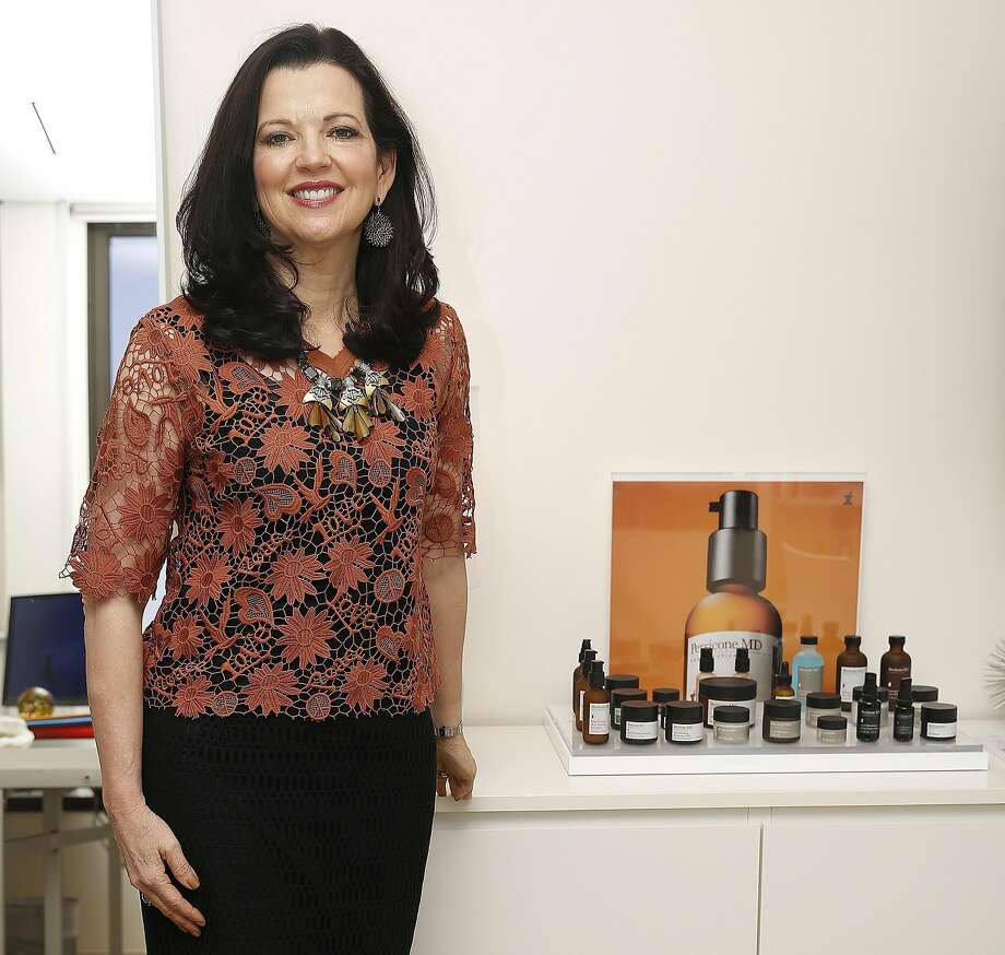 CEO Mary Van Praag of Perricone MD shows products at her office in San Francisco, California on monday, April 4, 2016. Photo: Liz Hafalia, The Chronicle