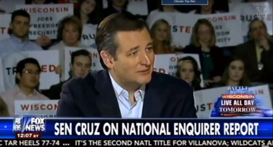 Texas Sen. Ted Cruz in a Fox News interview broadcast Monday night, doubled down on his allegations that Donald Trump's 'henchmen' were behind a report in the National Enquirer, alleging he'd had extramarital affairs.