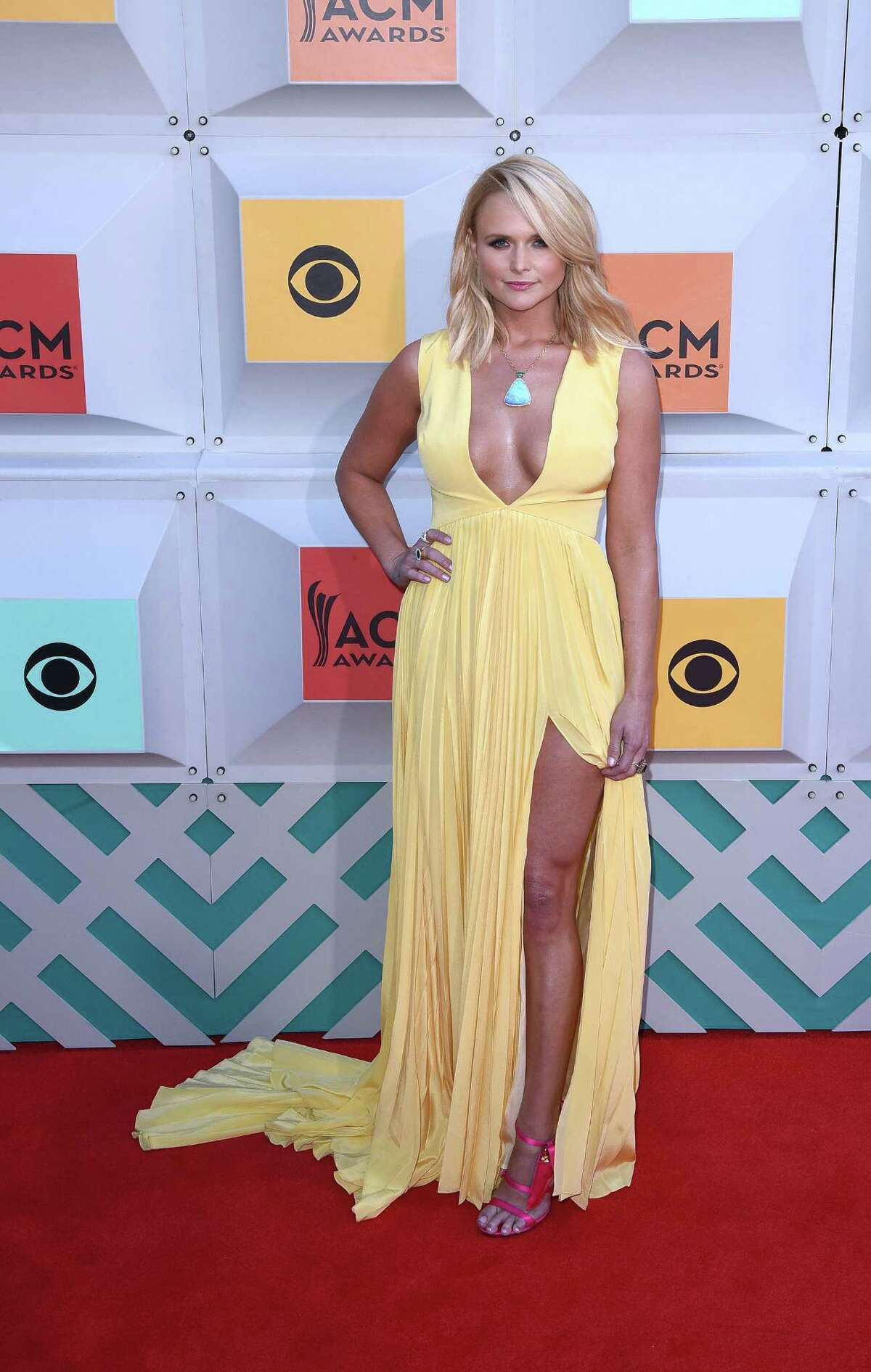 Singer Miranda Lambert attends the recent 51st Academy Of Country Music Awards wearing stilettos by Houstonian Joyce Echols.