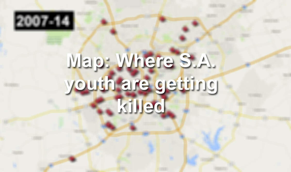 Click through the gallery to see visualizations of homicides of youth in San Antonio from 2007-2014.