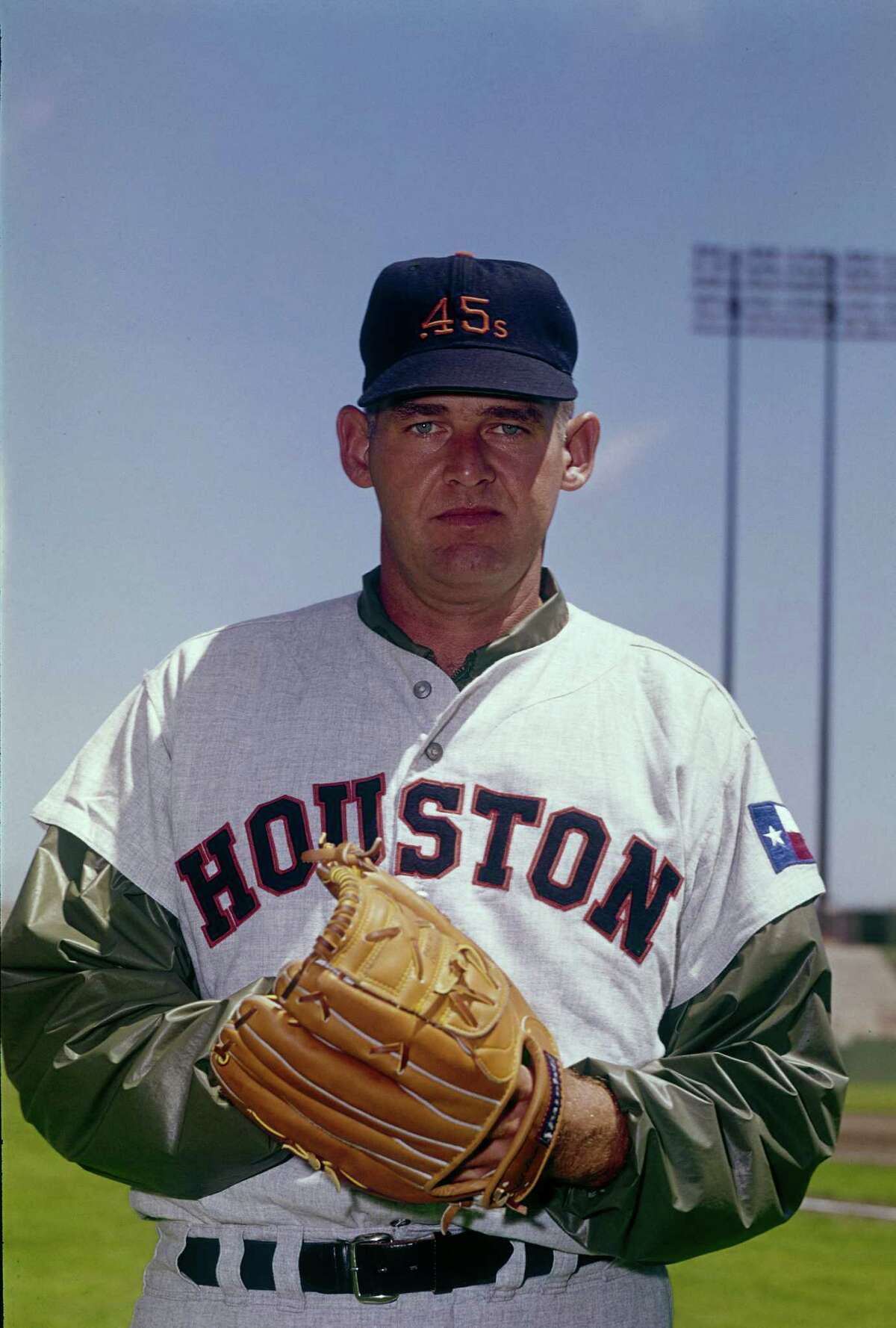 UNSPECIFIED - CIRCA 1964: Don Larsen #31 of the Houston Colt 45 's poses for this photo before a Major League Baseball game circa 1964. Larsen played for Houston from 1964-65.