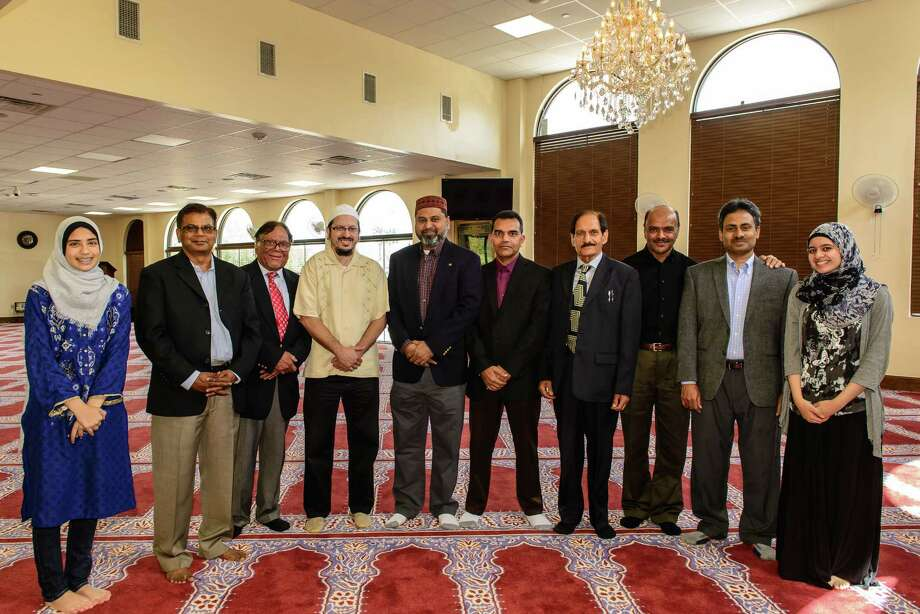 The Pearland Islamic Center is planning a building project. Members include: Fatimah Khan, left, Aftab Siddiqi, Dr. Syed Masood, Daniel Abdullah Hernandez, Abul Azad, Elias Biswas, Abdulkiahid Khan, Abdul Abubaker, Mohamed Jamal and Anum Khokhar.  Photo: ÂKim Christensen, Photographer / ©Kim Christensen