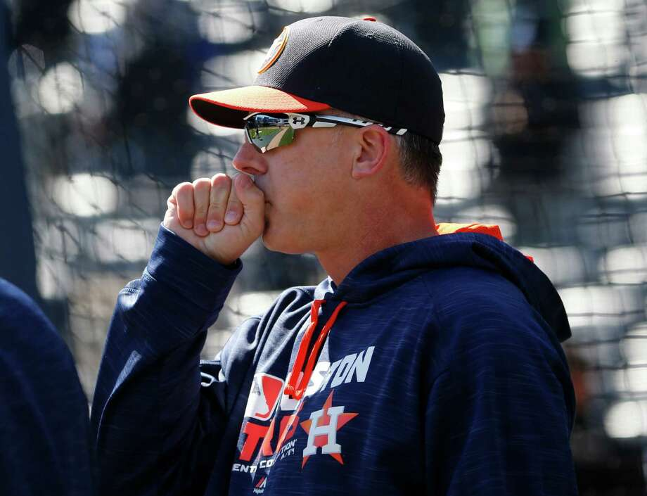 The spotlight is on Astros manager A.J. Hinch this season. Photo: Kathy Willens, AP / Copyright 2016 The Associated Press. All rights reserved. This material may not be published, broadcast, rewritten or redistribu