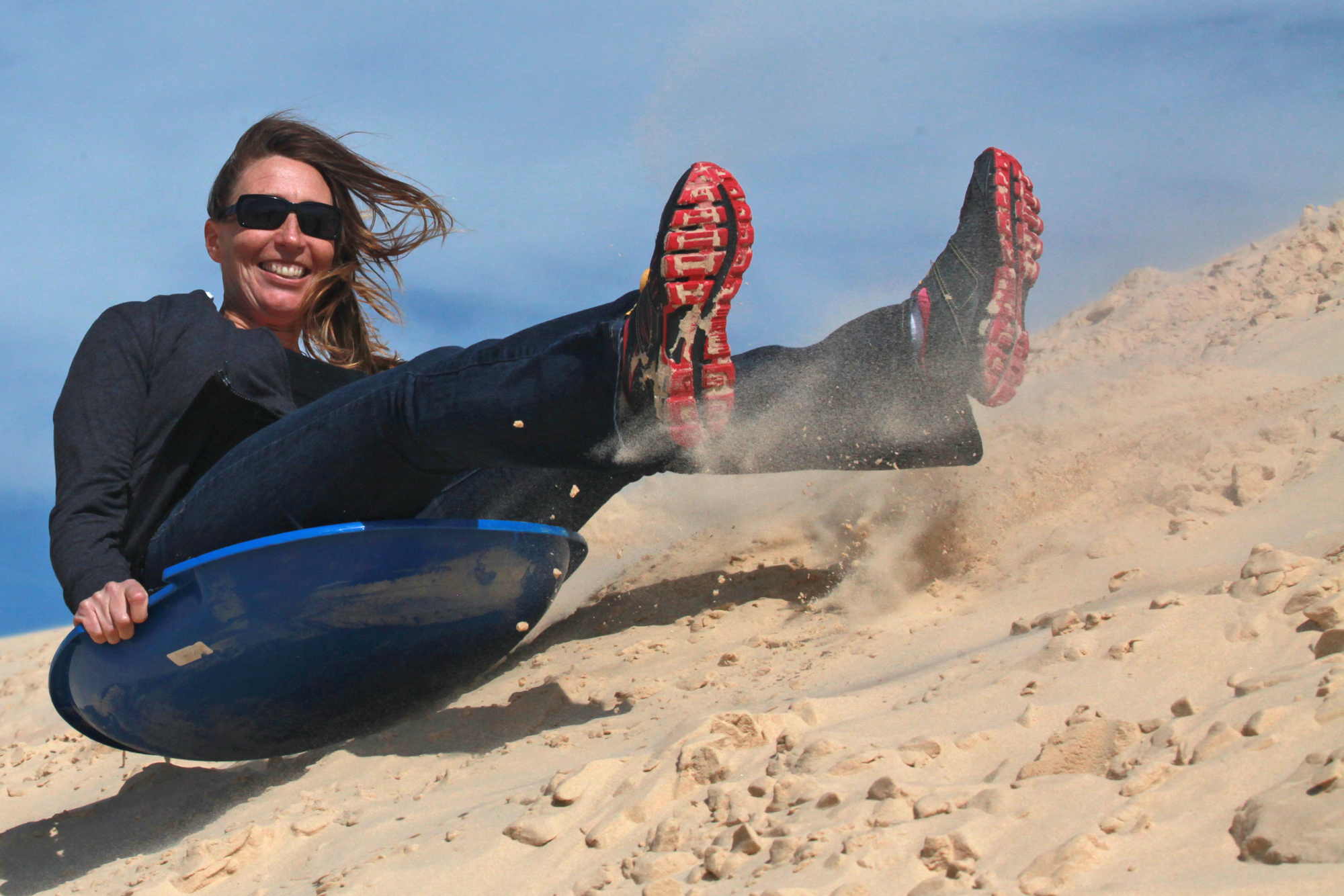 Giant Sand Dunes Of Monahans Attract Boy Scouts Campers