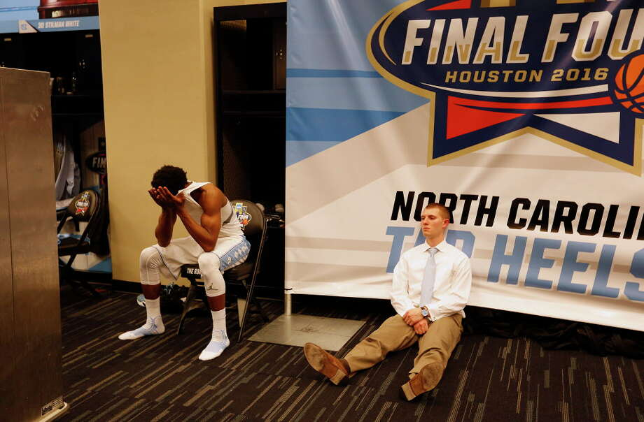 North Carolina players react following their loss to Villanova in the NCAA National Championship at NRG Stadium, Monday, April 4, 2016, in Houston. Photo: Mark Mulligan, Houston Chronicle / © 2016 Houston Chronicle