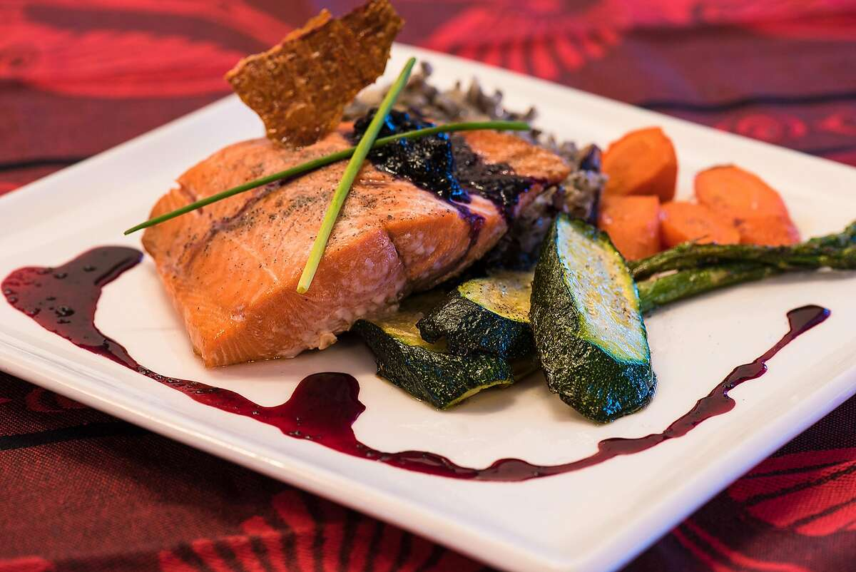Salmon, one of the specials at the Salmon �n Bannock bistro.