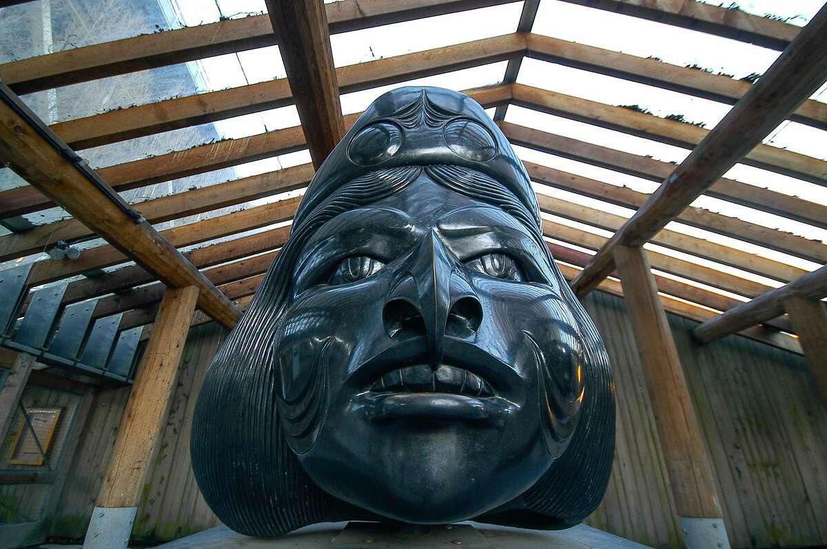 First Nations� exhibition at the Granville Island carving shed.