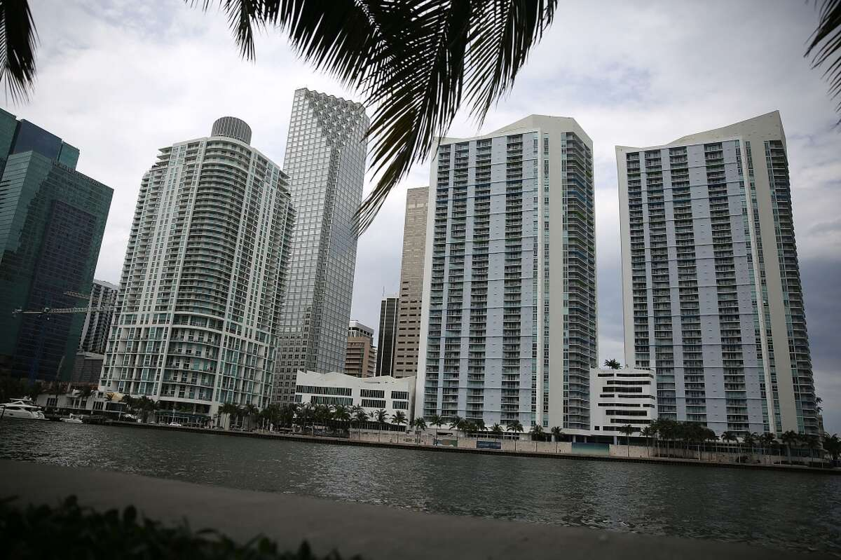 Skyscrapers and residential buildings line the beach April 4, 2016 in Miami, Florida. A report by the International Consortium of Investigative Journalists referred to as the
