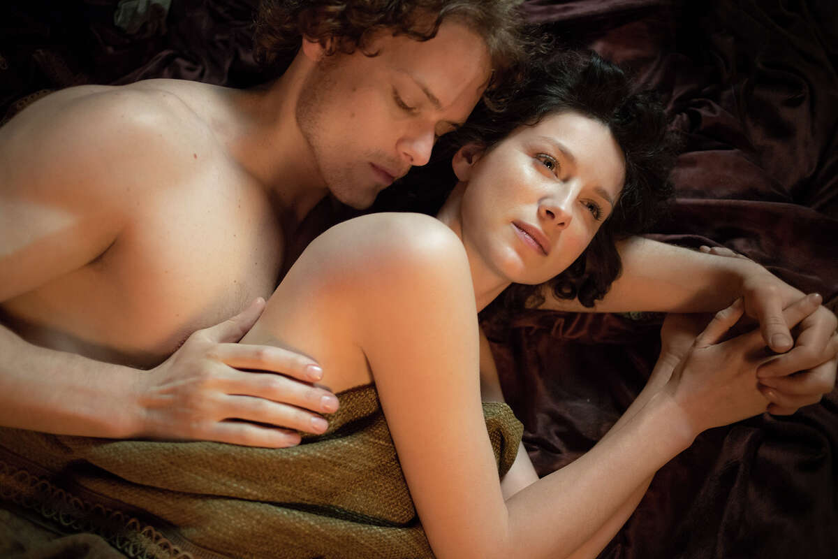 'Outlander' hero and heroine Jamie (Sam Heughan) and Claire (Caitriona Balfe) took every opportunity possible to make love in season one of the Star series.