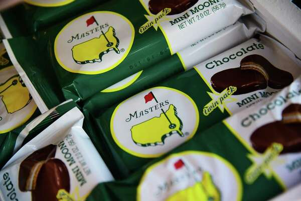 AUGUSTA, GEORGIA - APRIL 05:  Food is dispayed for sale during a practice round prior to the start of the 2016 Masters Tournament at Augusta National Golf Club on April 5, 2016 in Augusta, Georgia.