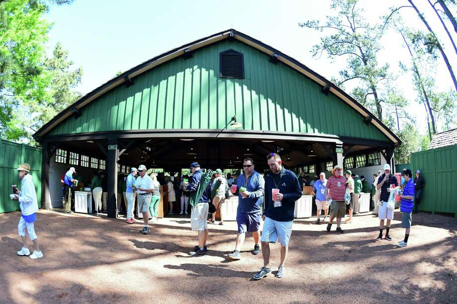 AUGUSTA, GEORGIA - APRIL 05: Patrons purchase food during a practice round prior to the start of the 2016 Masters Tournament at Augusta National Golf Club on April 5, 2016 in Augusta, Georgia.Browse through the photos to see the cheap food prices at the Augusta National Golf Club for The Masters. Photo: Harry How, Getty Images / 2016 Getty Images