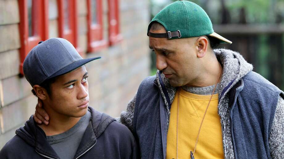 """Cliff Curtis (right), with James Rolleston, plays a former chess champion who teaches the game to youths in a poverty- stricken New Zealand town in the crowd- pleasing """"The Dark Horse."""" Photo: Steve King, AP"""