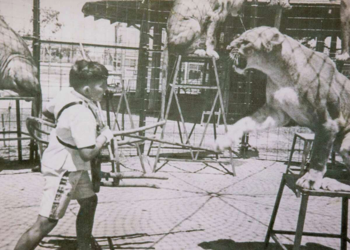 Manny King, the boy lion tamer and movie star, is shown in this undated family photo copied on Tuesday, April 5, 2016, in Houston. King died Monday. ( King Family Photo )