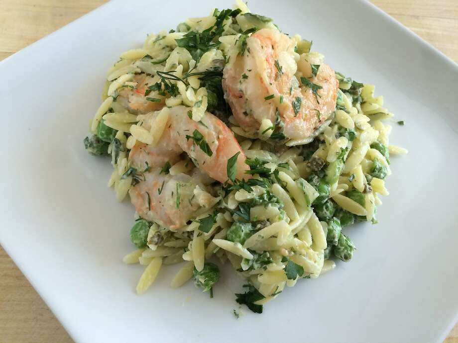 Shrimp and Orzo Salad With Dill Photo: Sarah Fritsche