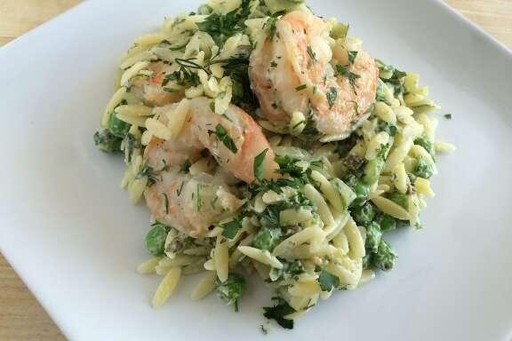 Creamy shrimp &rzo salad with fresh dill (updated recipe)