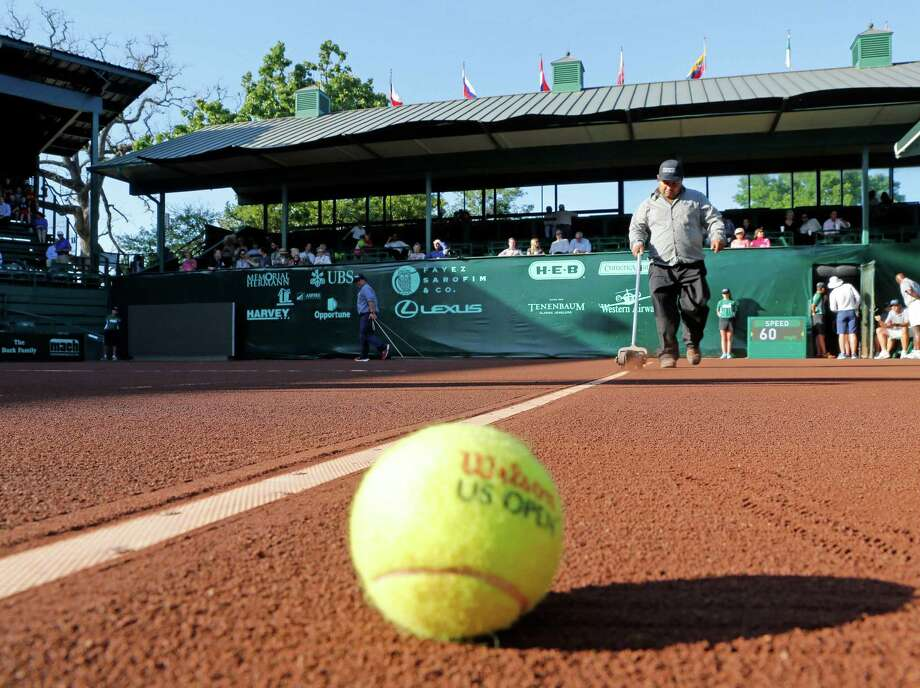 Qualifying for the Fayez Sarofim & Co. U.S. Men's Clay Court Championship begins at 10 a.m. Saturday at River Oaks Country Club. Eight matches will be played on two of the outside courts and are free to the public. Photo: Craig Hartley, For The Chronicle / Copyright: Craig H. Hartley