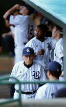 Rice head coach Wayne Graham watched his team beat No. 3 Texas A&M 4-3 on Tuesday night.