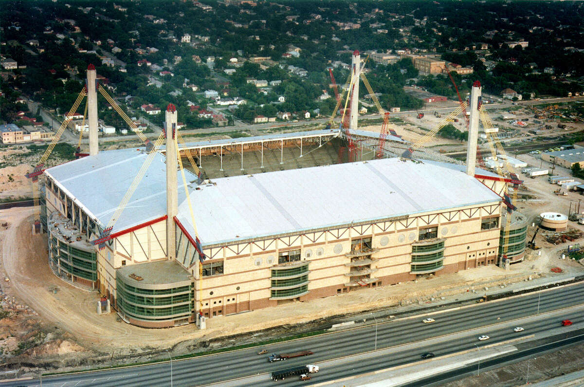 1. In 1993, the Alamodome was S.A.'s shiny, new toy The 'dome opened in 1993 and was the Spurs' home during the team's s 1999 championship season, but it never was truly intended to permanently house a professional sports franchise. The Alamodome is shown in a 1992 file photo, before its roof was completed.