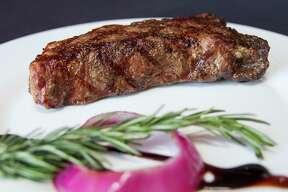 The New York strip steak at 1718 Steak House