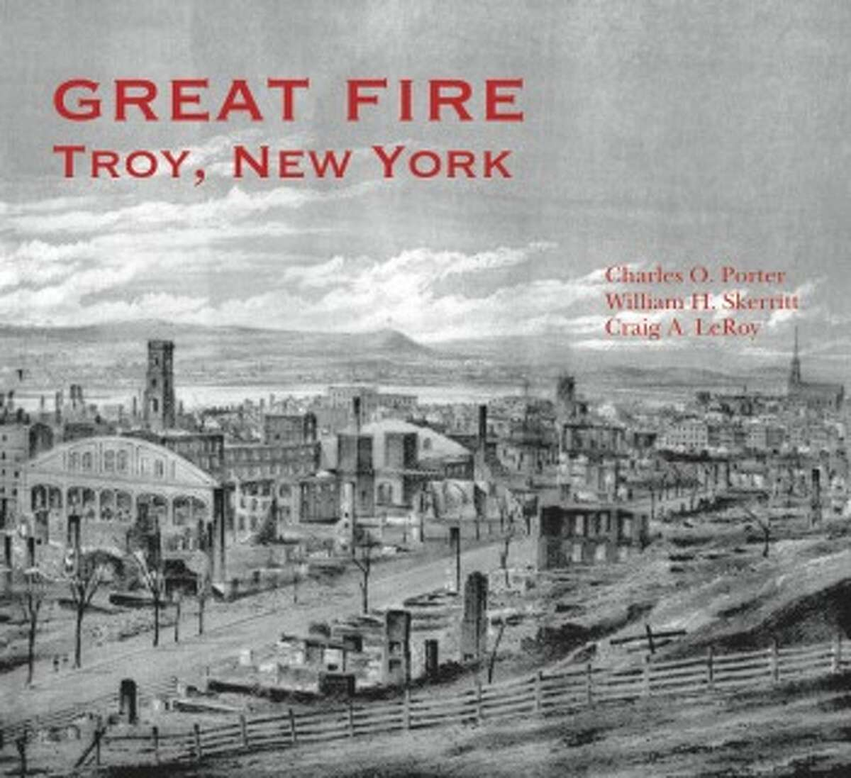TROY, May 10, 1862. Sparks from a train leaving Troy and crossing the covered Green Island Bridge set the wooden structure on fire. Gale-force winds created a firestorm, leaving downtown's 4th Ward a charred landscape of 75 acres where 670 buildings once stood. About eight people died, according to historians. This photo shows downtown before the Great Fire.Read the story here.