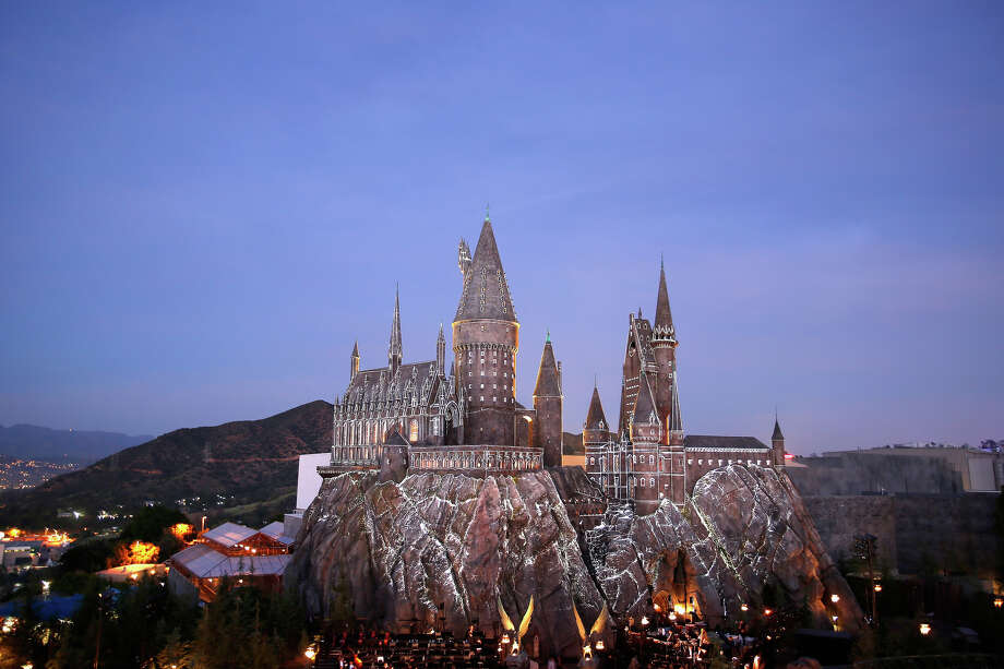 Exterior view of Hogwarts castle at the opening of the 'Wizarding World of Harry Potter' at Universal Studios Hollywood on April 5, 2016. Photo: Rich Polk/Universal Studios, NBC Via Getty Images / 2016