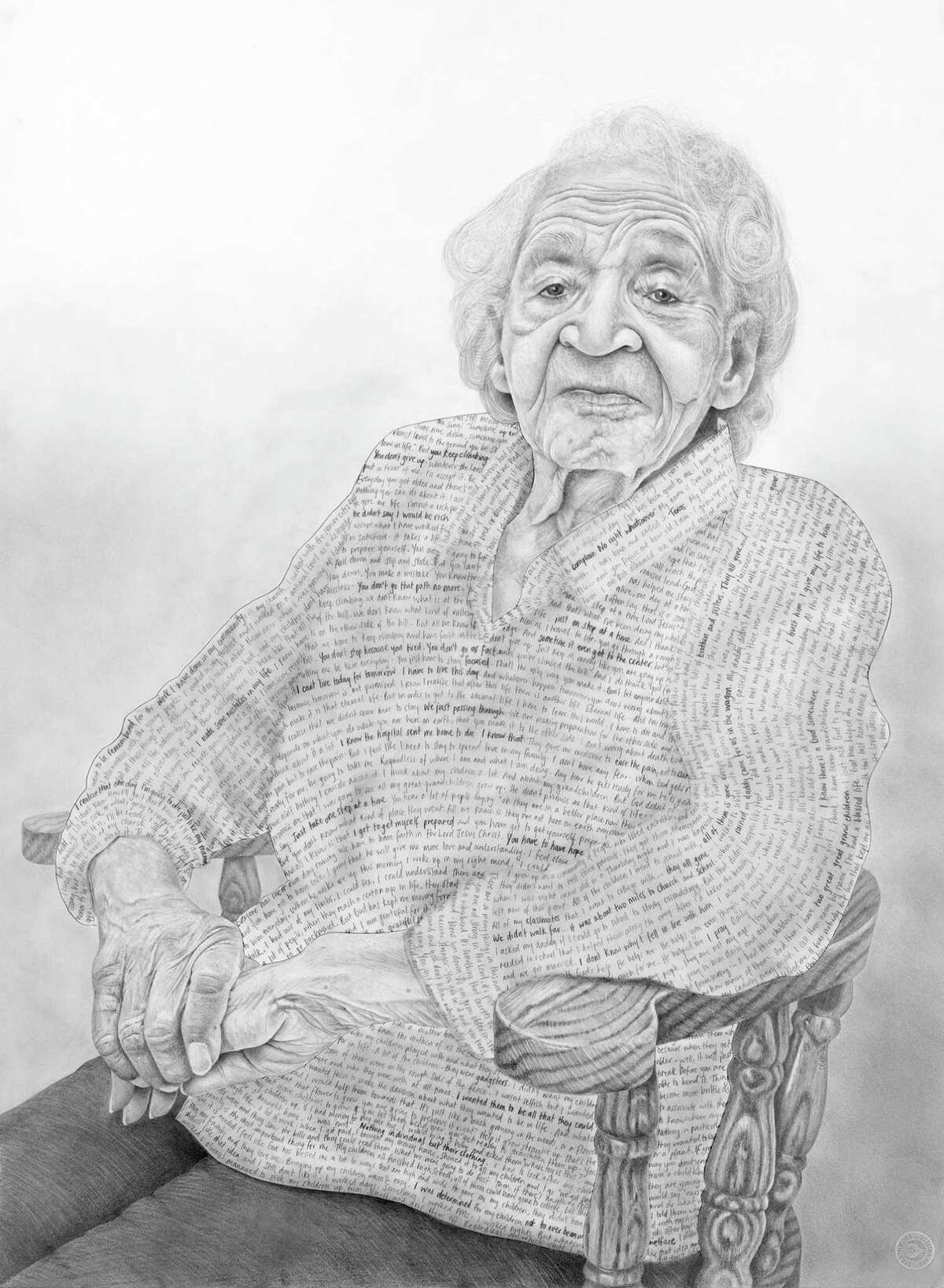 Ora is a portrait in a series made by Claudia Biçen during interviews and audio recordings of nine hospice patients.