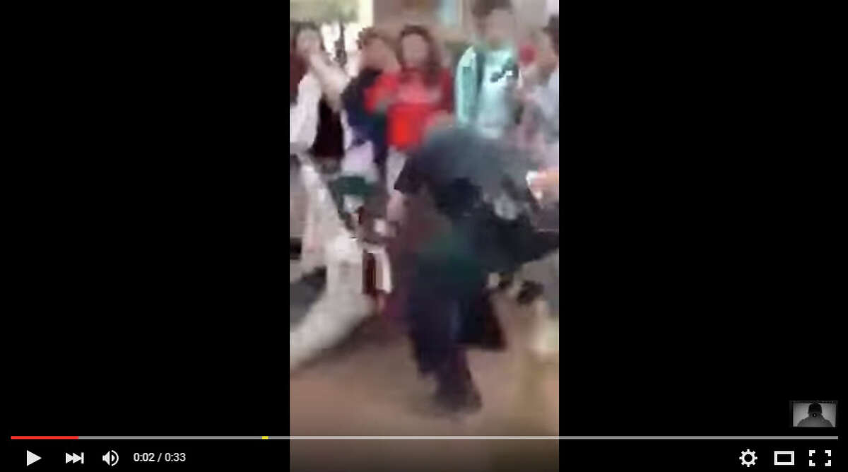 San Antonio I.S.D. officials are investigating a possible case of excessive force after this YouTube video appears to show Officer Joshua Kehm slam a 12-year-old girl onto a concrete floor on March 29, 2016.Read more: Video showing SAISD officer slamming female student onto concrete sparks investigation
