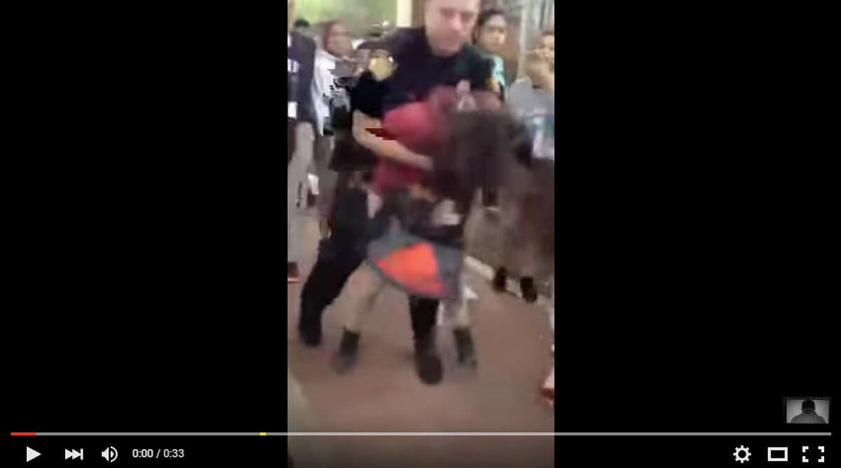 San Antonio Independent School District is investigating a possible case of excessive force after this video was published online appearing to show an incident at Rhodes Middle School. https://www.youtube.com/watch?v=__GRdC_J_ng