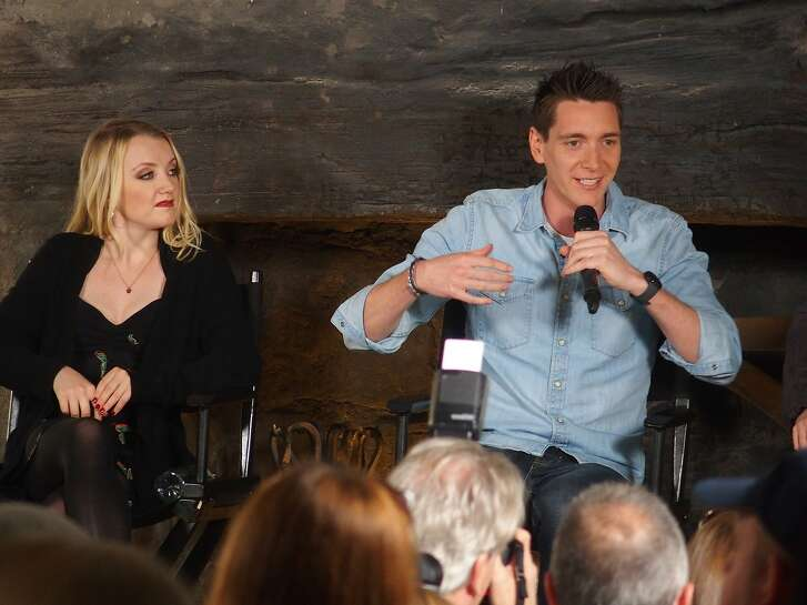 Cast members from the Harry Potter movies answer questions during a media sneak peek at the Wizarding World of Harry Potter on April 6.