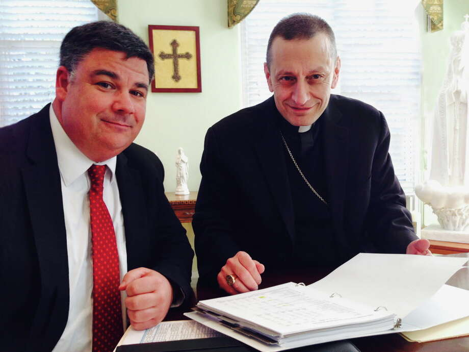 Steven F. Cheeseman and Bishop Frank J. Caggiano Photo: Contributed / Contributed