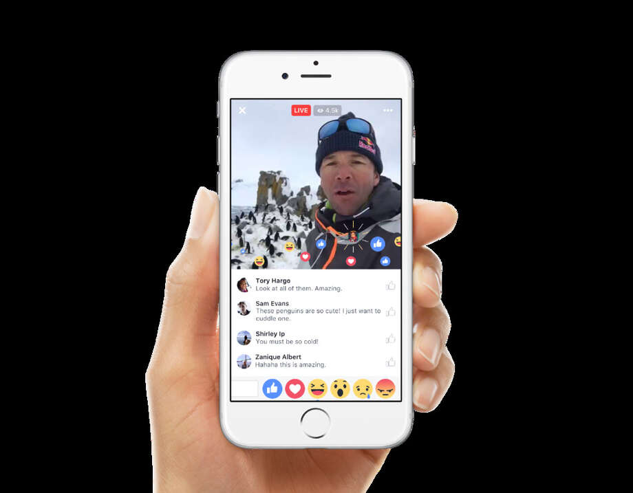 Facebook added new features to its live video feature Wednesday. Photo: Facebook / / Facebook