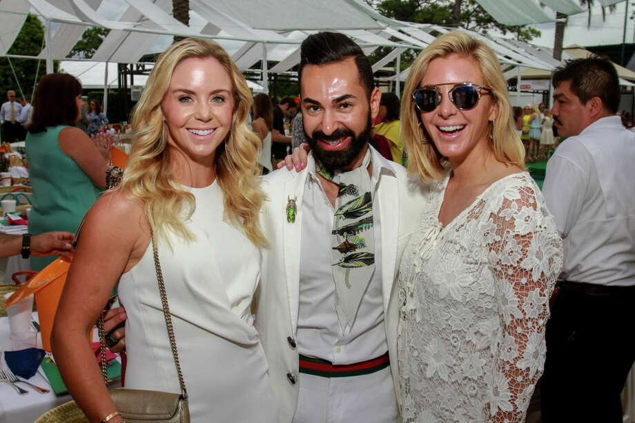 Lauren Snyder, from left, Fady Armanious and Kristen Nix at the annual Clay Court Fashion and Tootsies, at River Oaks Country Club. (For the Chronicle/Gary Fountain, April 6, 2016) Photo: Gary Fountain, Gary Fountain/For The Chronicle / Copyright 2016 Gary Fountain