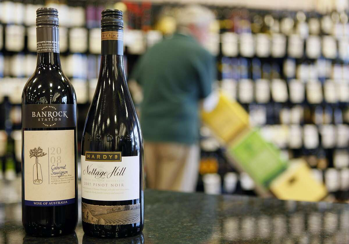 Bottles of wine produced by Constellation Brands, Inc., are shown at Premier Wine & Spirits in Williamsville, N.Y., Thursday, Dec. 23, 2010. Constellation Brands Inc. said Thursday it is selling an 80 percent stake in its Australian and British wine business to an Australian private equity firm for about $230 million, losing its distinction as the world's biggest wine company. (AP Photo/David Duprey)