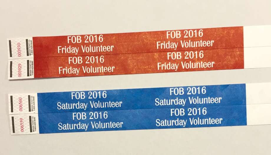Legitimate volunteer Oyster Bake wristbands distributed by St. Mary's University.  Photo: Provided By St. Marys University