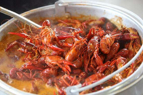 Traders Village, 7979 N. Eldridge Road, will host the Bayou City Cajun Festival on April 9-10. Above is boiled crawfish from an earlier Bayou City Cajun Festival.