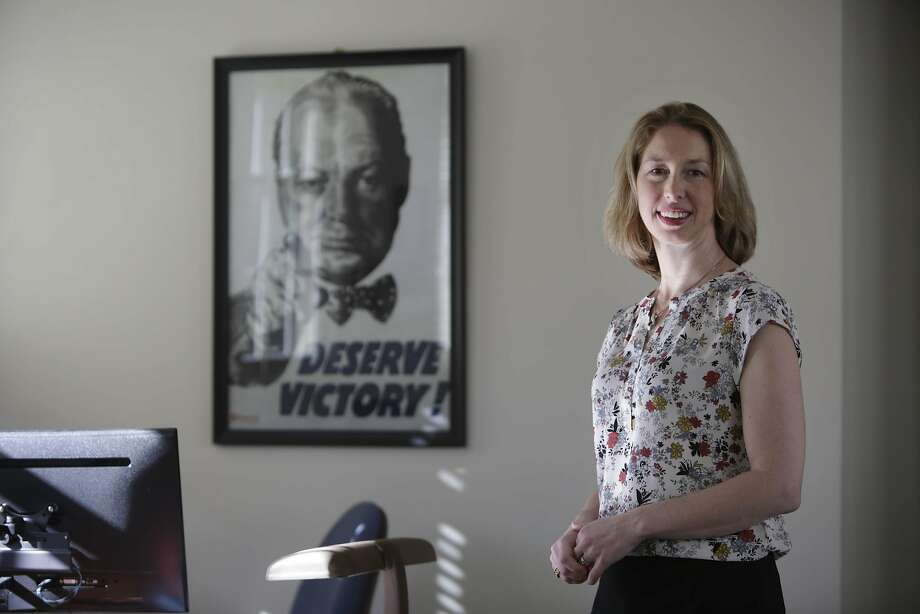 Julia Cline, director - product management Rubicon, stands for a portrait at the Rubicon office on Wednesday, April 6, 2016 in San Francisco, California. Photo: Lea Suzuki, The Chronicle