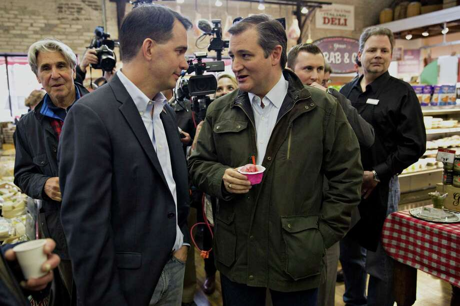 Wisconsin Gov. Scott Walker, right, confers with the presidential candidate he endorsed, Sen. Ted Cruz, at an Italian market in Milwaukee before the Republican primary Tuesday. A reader discusses the chaos that could ensue at a brokered convention. Photo: Daniel Acker /Bloomberg / © 2016 Bloomberg Finance LP