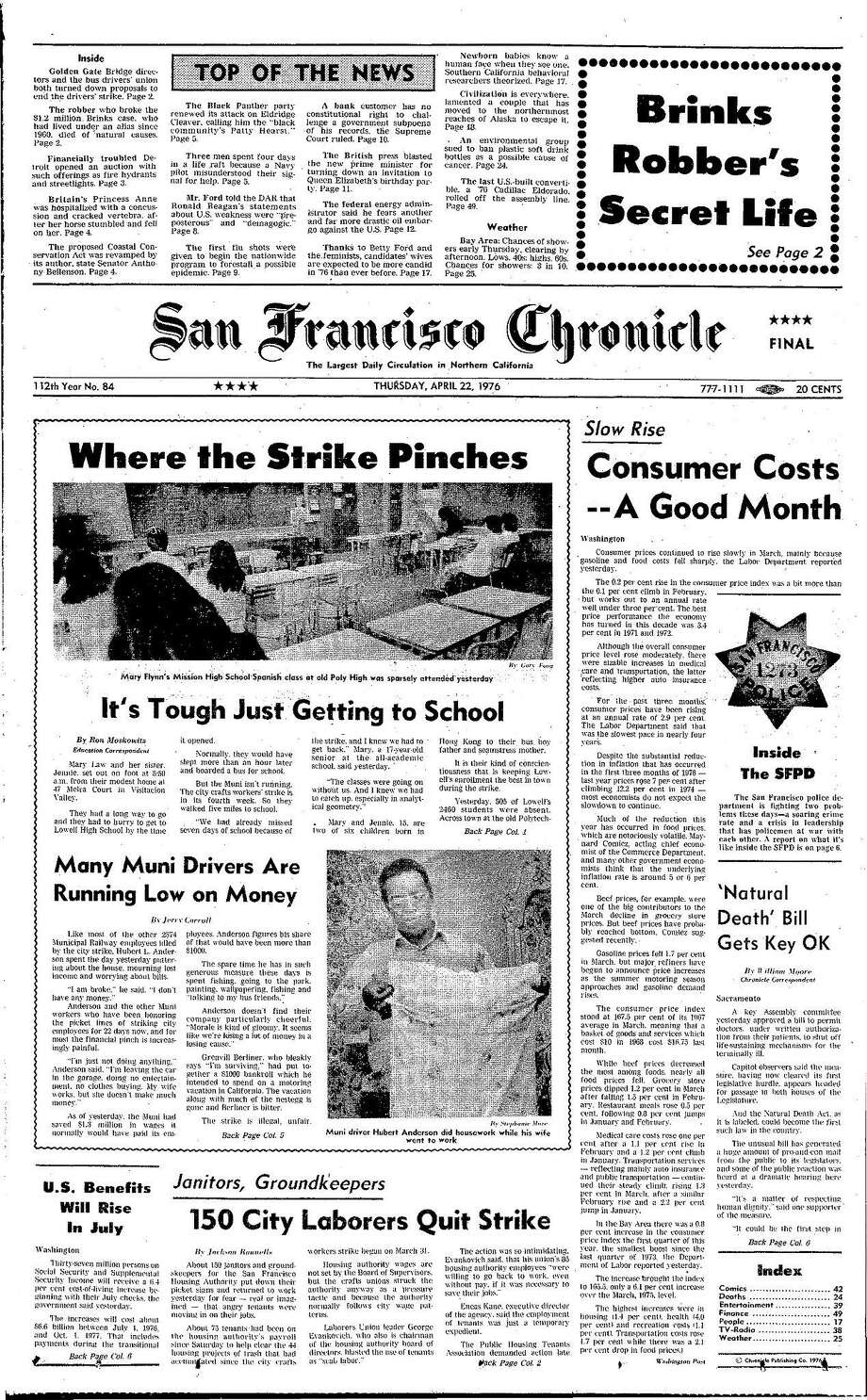 Chronicle Covers: Day 22 of the brutal 38-day city strike