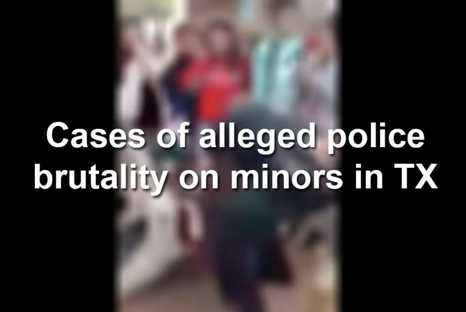 Keep clicking to view alleged police brutality cases concerning minors that have made headlines in Texas. Photo: YouTube Screenshot