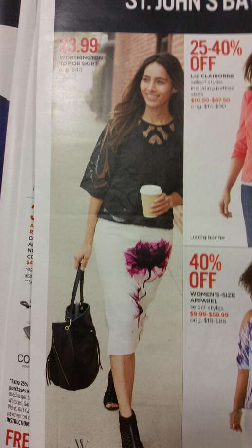 """This JCPenney skirt featuring a """"flower"""" design is getting a lot of criticism online."""