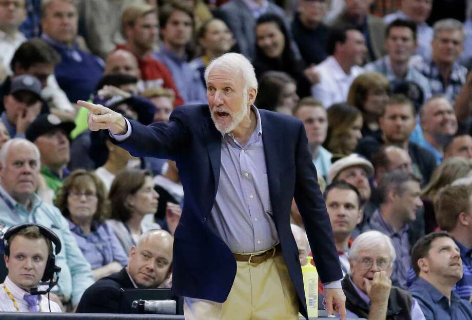 San Antonio Spurs head coach Gregg Popovich shouts to his team during the second half of a game against the Utah Jazz on Tuesday. A reader reminds the coach that the team is on the verge of history. Photo: Rick Bowmer /AP / AP