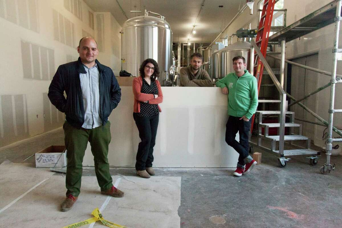 Temescal Brewing's founders (from l-r): Sam Gilbert, Dvorit Mausner, Wade Ritchey, and Tollef Biggs.