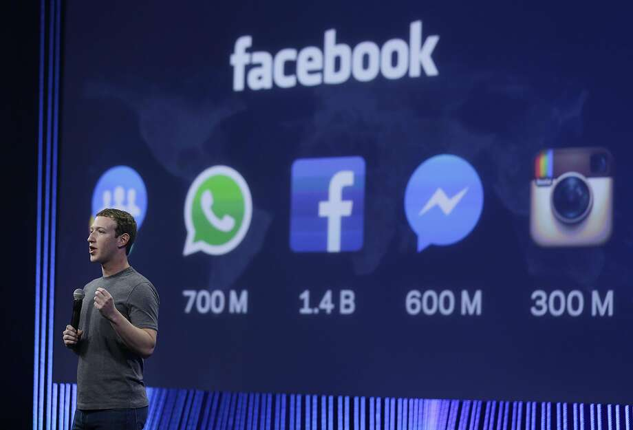 FILE - In this March 25, 2015 file photo CEO Mark Zuckerberg gives the keynote address during the Facebook F8 Developer Conference in San Francisco. (AP Photo/Eric Risberg, file) Photo: Eric Risberg, AP