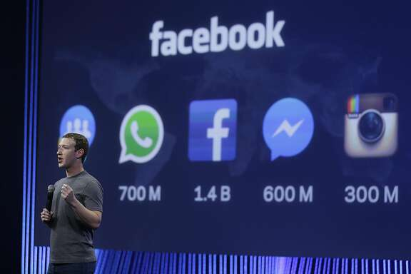 FILE - In this March 25, 2015 file photo CEO Mark Zuckerberg gives the keynote address during the Facebook F8 Developer Conference in San Francisco. Germany�s competition authority said Wednesday March 2, 2016  it is investigating whether Facebook abused its market position by breaching data protection laws. (AP Photo/Eric Risberg, file)