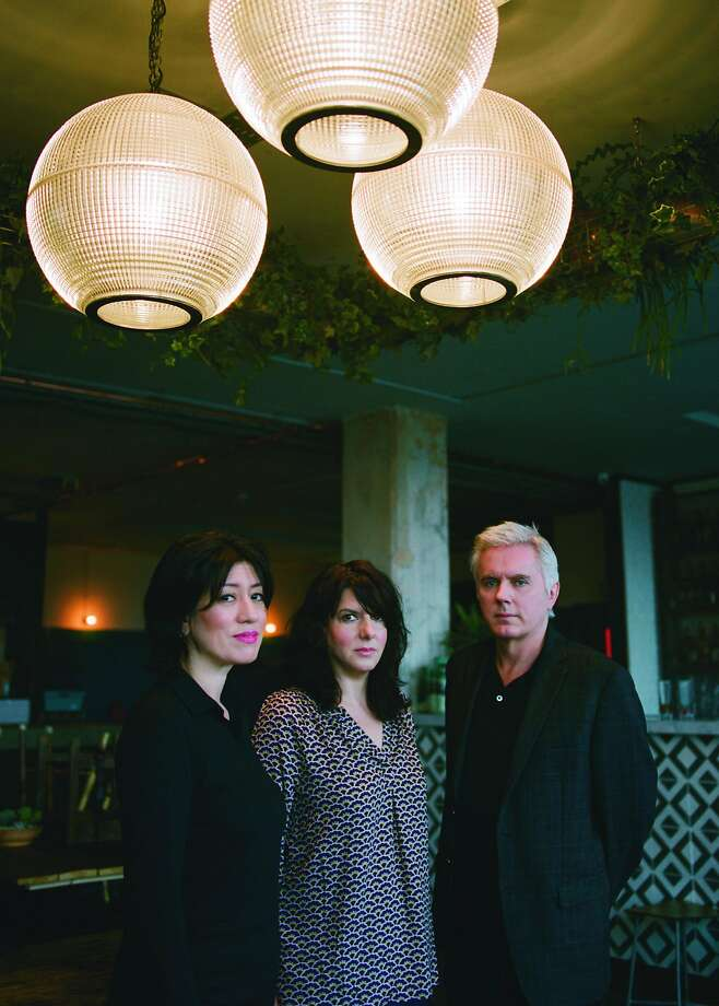 Miki Berenyi, left, Emma Anderson and Philip King of Lush will play at the Warfield April 17. Photo: Gabriel Green