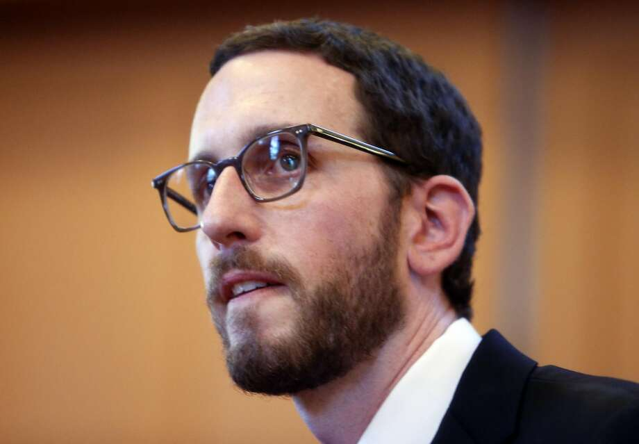 Scott Wiener waits for the start of his District 11 State Senatorial debate with Jane Kim at Congregation Sha'ar Zahav in San Francisco, Calif., in this file photo from Wednesday, April 6, 2016. Photo: Scott Strazzante, The Chronicle