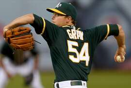 OAKLAND, CALIFORNIA - APRIL 06:  Sonny Gray #54 of the Oakland Athletics pitches against the Chicago White Sox in the first inning of a Major League Baseball game at The Coliseum on April 6, 2016 in Oakland, California.  (Photo by Thearon W. Henderson/Getty Images)