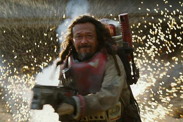 """Jiang Wen in a still from """"Rogue One: A Star Wars Story."""""""